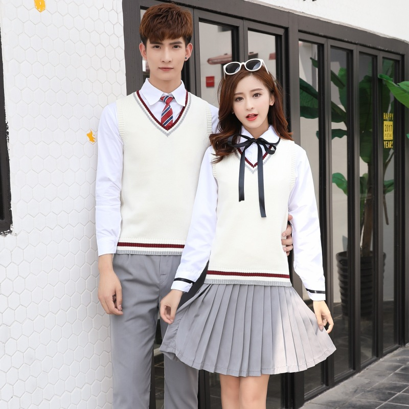 Japanese College Uniforms Teenager High School Clothes 4pcs Students School Wear Avy Sailor School Uniforms Long Sleeve D-0301