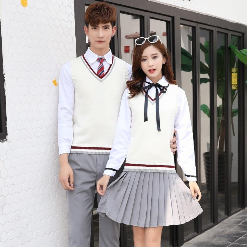 Japanese College Uniforms Teenager High School Clothes 4pcs Students School Wear Avy Sailor School Uniforms Long Sleeve D-0301
