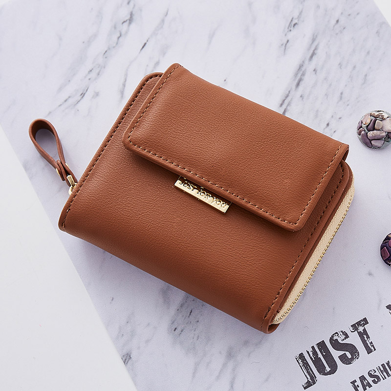 Women Leather Wallet Female Small Solid Zipper Purse Credit Card For Girls Photo Holder Pocket Casual Dropshipping Wallets new brand colors purse plaid leather zipper wallet cards holder wallet for girls women wallet