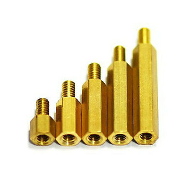 2.5mm Brass Standoff Spacer M2.5*20  Male x M2.5 Female Thread 6mm 25PCS m4 male m 25 30 35 40 45 50 55 60 mm x m4 6mm female brass standoff spacer copper hexagonal stud spacer hollow pillars