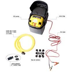 Бесплатная доставка, электрический воздушный насос высокого давления постоянного тока 12 В для надувной лодки, плот, серфинг с веслом, доска,...
