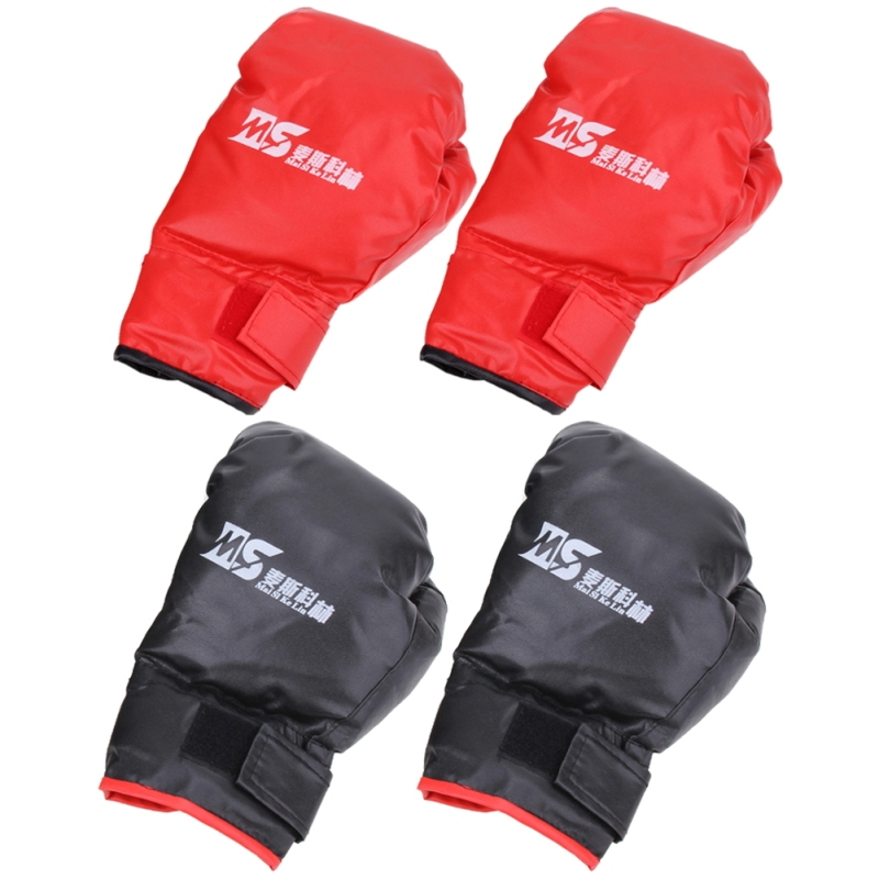 2 style Professional Boxing Gloves MMA Muay Thai Gym Punching Bag Breathable Half/Full Mitt Training Sparring Kick Boxing Gloves 17