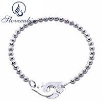 Slovecabin Europe Hot Sale Classic 925 Sterling Silver Handcuff Bracelet For Men Silver Wedding Menottes Bracelet