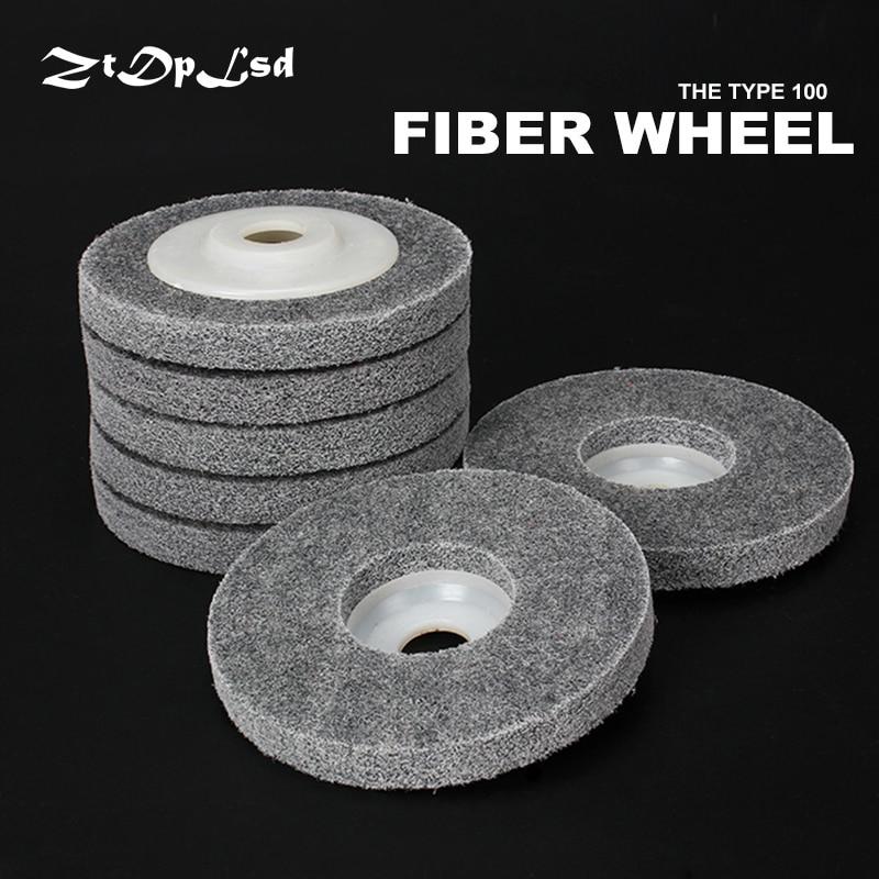 "ZtDpLsd 1Pcs 4"" Nylon Polishing Wheel Sanding Disc Diameter 100mm Fiber Grinding Wheel For Metals Ceramics Marble Wood Crafts"