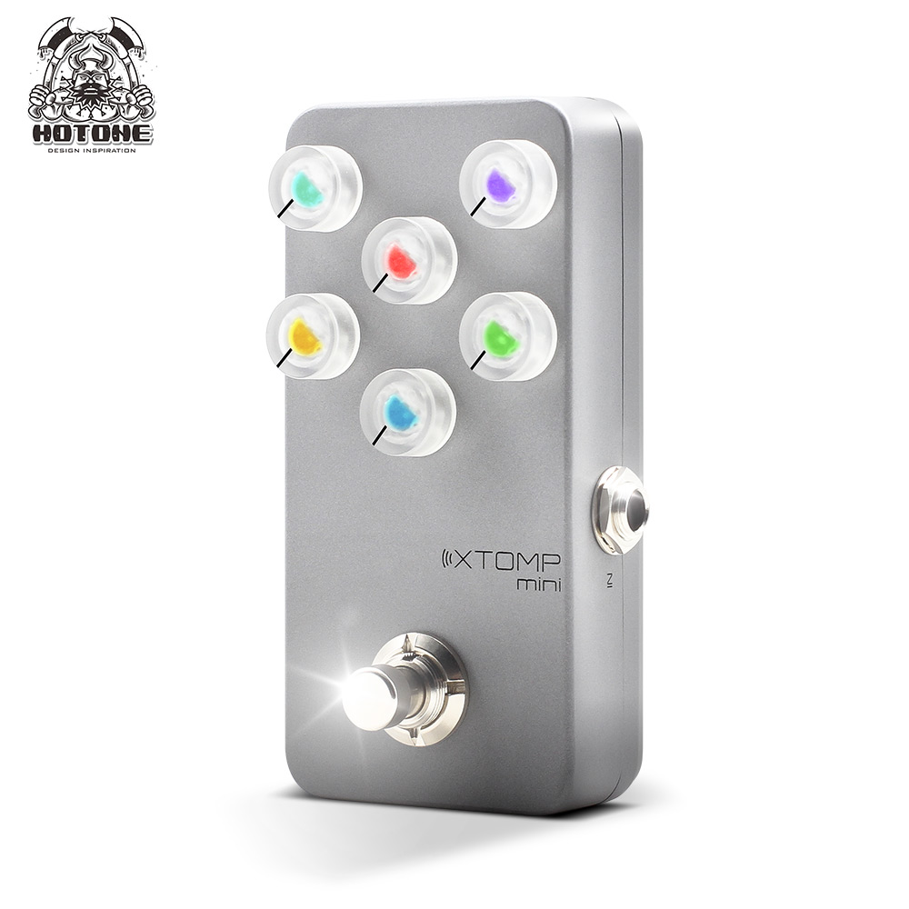 Hotone Reverb Chorus Multi Effects Pedal Xtomp Mini of Distortion Overdrive Compressor Fuzz Boost Tremolo Noise Gate Phaser image