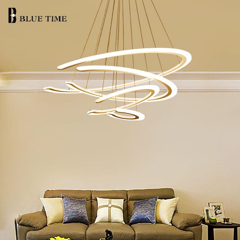 Acrylic Design Modern Led Pendant lights For Living Room Dining room Pendant Lamp 3/2 Rings LED Lighting ceiling Lamp fixtures автоинструменты new design autocom cdp 2014 2 3in1 led ds150