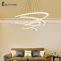 Acrylic Design Modern Led Pendant lights For Living Room Dining room Pendant Lamp 3/2 Rings LED Lighting ceiling Lamp fixtures