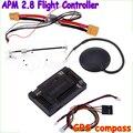 Оптовая продажа APM 2.8 ArduPilot мега внешний компас APM полет управления ж / Ublox нео-6m GPS RC самолет части прямая поставка