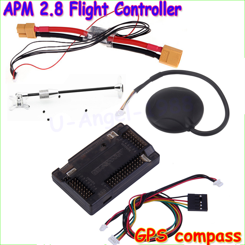Wholesale  APM 2.8 ArduPilot Mega External Compass APM Flight Controller w/Ublox NEO-6M GPS RC Airplane Part Dropship zndiy bry top pin apm2 6 external compass apm flight controller w ublox neo 6m gps for multicopter