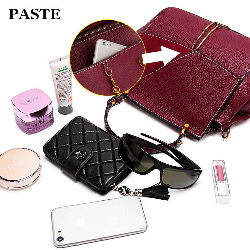 Cowhide Genuine Leather Women Messenger Bags bolsa feminina top selling high quality handbag