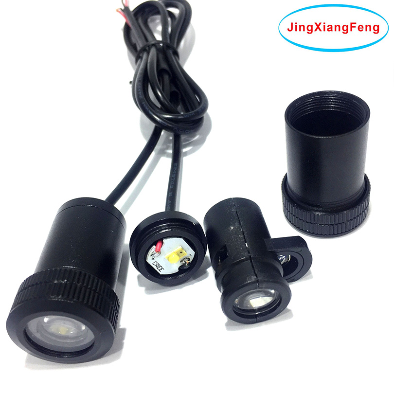 JingXiangFeng Car Led Luz de puerta para Kia Para Ford Para Hyundai Para Lada Led Logo Ghost Shadow Lamp Luces de bienvenida Advertencia 12V