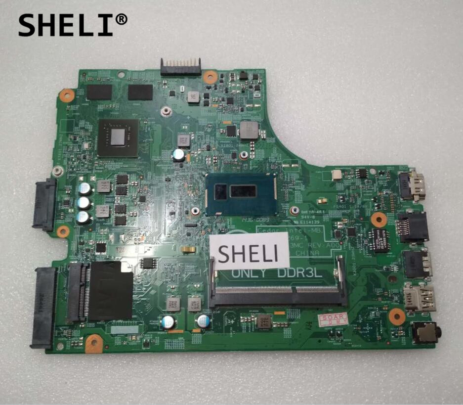 SHELI For DELL 3542 Motherboard with 3805U cpu CN-064HF9 064HF9 64HF9 цена и фото