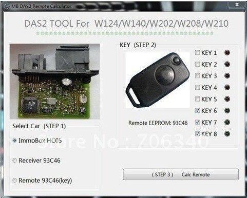 Free DHL shipping!!! Original Best Mercedes Benz DAS2 Immobilizer Remote Calculator  DHL free shipping