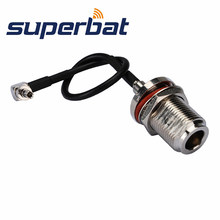 Superbat N Female Jack to CRC9 3G pigtail Cable RG174 15cm for huawei E1550 E600 E612 E618 E620 E621 E630(China)