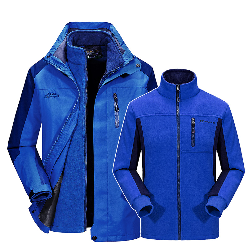 Soft Shell Tactical Hiking Jacket Men Waterproof Windproof font b Hunting b font Warm Coat Hooded