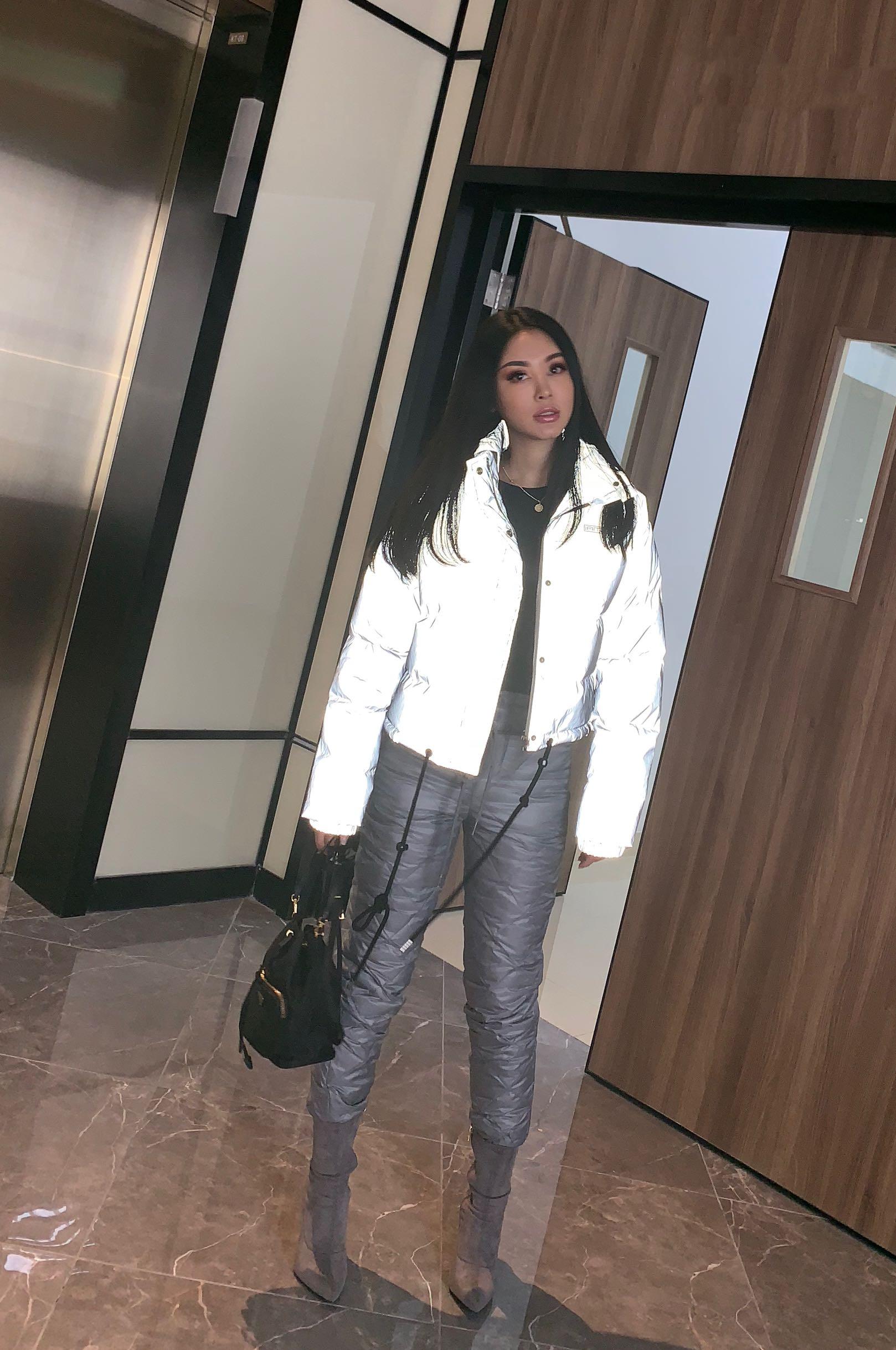 2018 Top Survêtement Pantalons Le Chaleur Limitée Et Femmes Pantalon Épais Mince Duvet Rue La Hiver De Glissière Europe Gris Coton Temps Canard Dans WwYqw85r