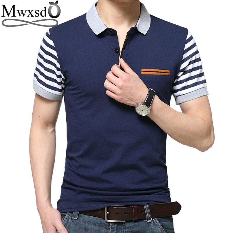 Mwxsd de vară mens casual polo tricouri bărbați Brand Short Polo - Imbracaminte barbati