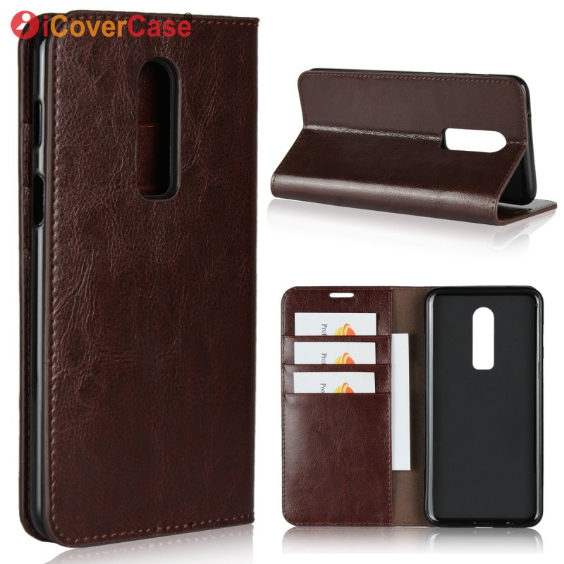 Flip Case For Oneplus 6 Genuine Leather Luxury Business Wallet Cover For One plus 6 OnePlus6 Mobile Phone Bag Etui Coque Hoesje