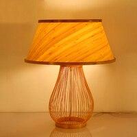 Оригинальный бамбука настольная лампа прикроватная тумбочка для спальни столовая балкон исследование творческого освещения настольные л