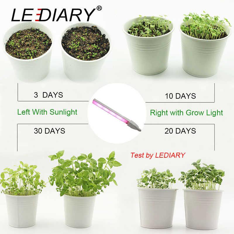 Светодио дный IARY USB светодио дный роста растений лампы 5 V 3 W полный спектр огни серебристый тела для гидропоники Системы парниковых зеленый завод CE