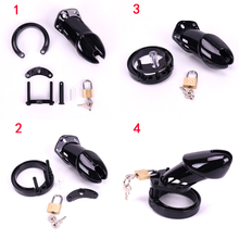 1 Set Male Chastity Device With 5 Size Penis Ring Cock Cages Men Virginity Lock Chastity Lock Belt Cock Ring Adult Game