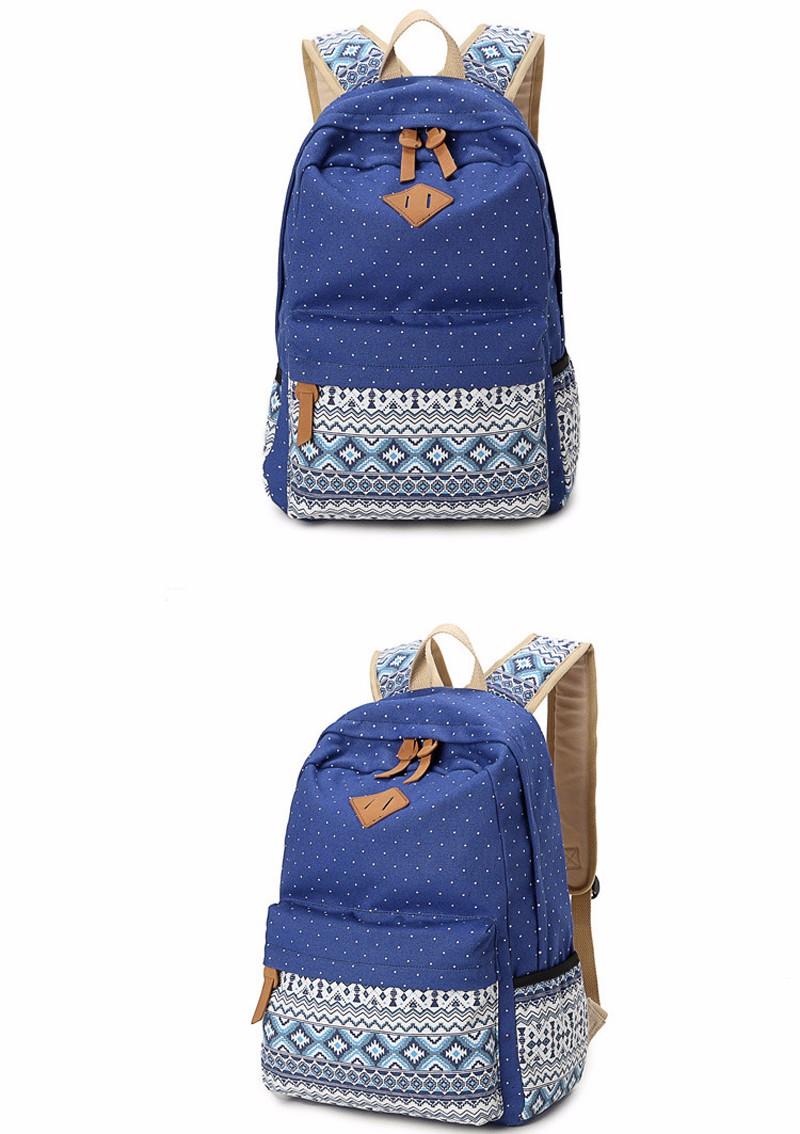 Canvas Printing Backpack Women School Bags for Teenage Girls Cute Bookbags Laptop Backpacks Female Bagpack 3 Piece one Set 18