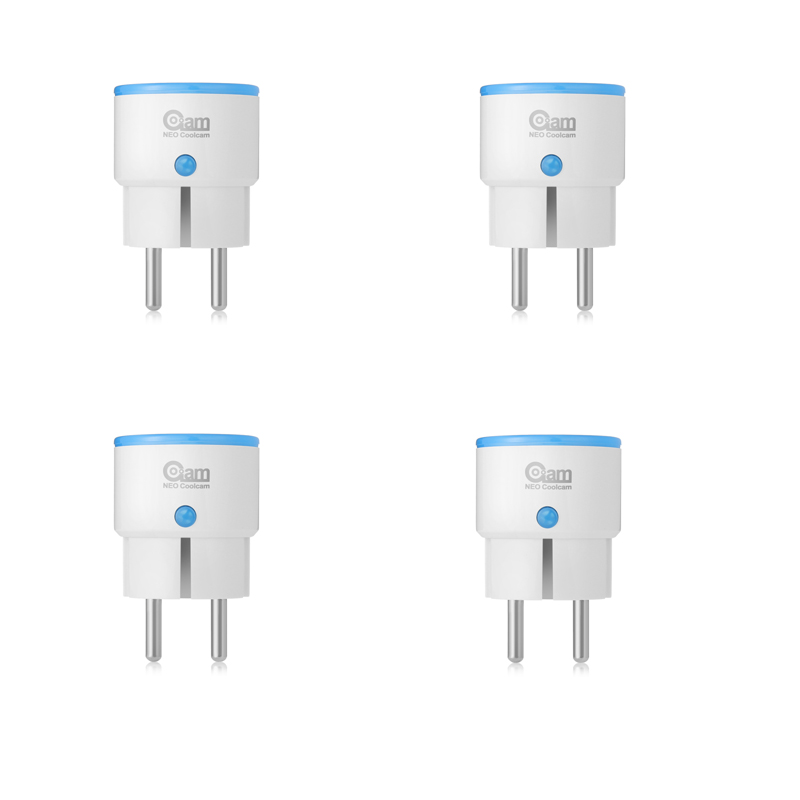 Tuya Smart NEO COOLCAM 4PCS/lot NAS-WR01ZE Z-wave Plus Smart Power Plug EU Socket Smart Home Automation Alarm System Home