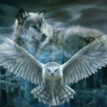 SHANSHIYOUPIN 5D DIY алмаз живопись полный Алмазная Вышивка животного «Тигр и птицы и волк и кролик» Вышивка крестом алмазная мозаика Craft