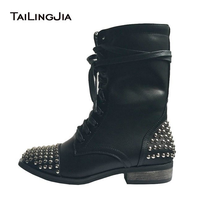 Chunky Heeled Combat Lace Up Boots  5zuXsw6U