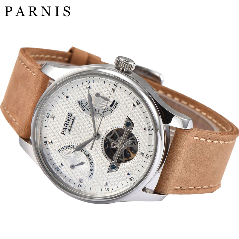 43m Automatic Men s Watch Parnis Casual Automatic Mechanical Watches for Men Seagull Automatic Power Reserve