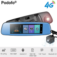 Podofo 4G ADAS Car DVR 7 84 Touch Remote Monitor Rear View Mirror With DVR And