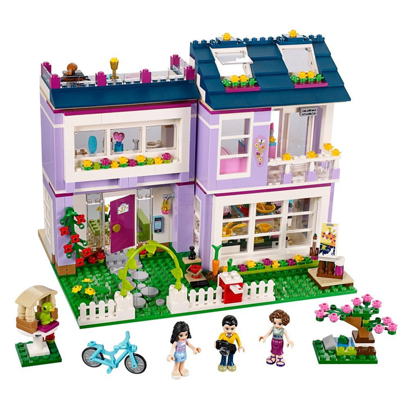 Lepin Pogo Bela 10541 731PCS+ Friends Girls Emma's House Building Blocks Bricks Compatible with Legoe Toys lepin pogo bela 10609 girls friends heartlake pizzeria models building blocks bricks action figures compatible legoe toys