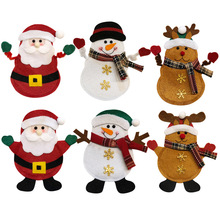 3Pcs New Arrival Christmas Decoration Cutlery Knifes Forks Bags Santa Claus Snowman Elk Year Dining Table Decor