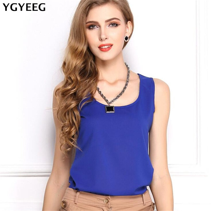 YGYEEG Chiffon   Tank     Tops   Women Casual Summer   Tops   For Women 2018 Sexy Sleeveless Camis Shirt Plus Size   Tank     Top   Cropped Feminino