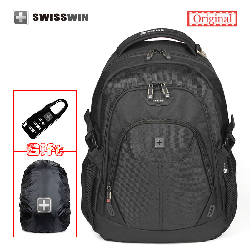 Swiss waterproof Travel Backpack 15.6 laptop Backpacks For Men Large Capacity School Bagpack for Teenage Boy Sac a dos sw9039 2016 new quality waterproof oxford swissgear backpack men 15 inch laptop bag sac a dos men backpacks swiss travel backpack lock