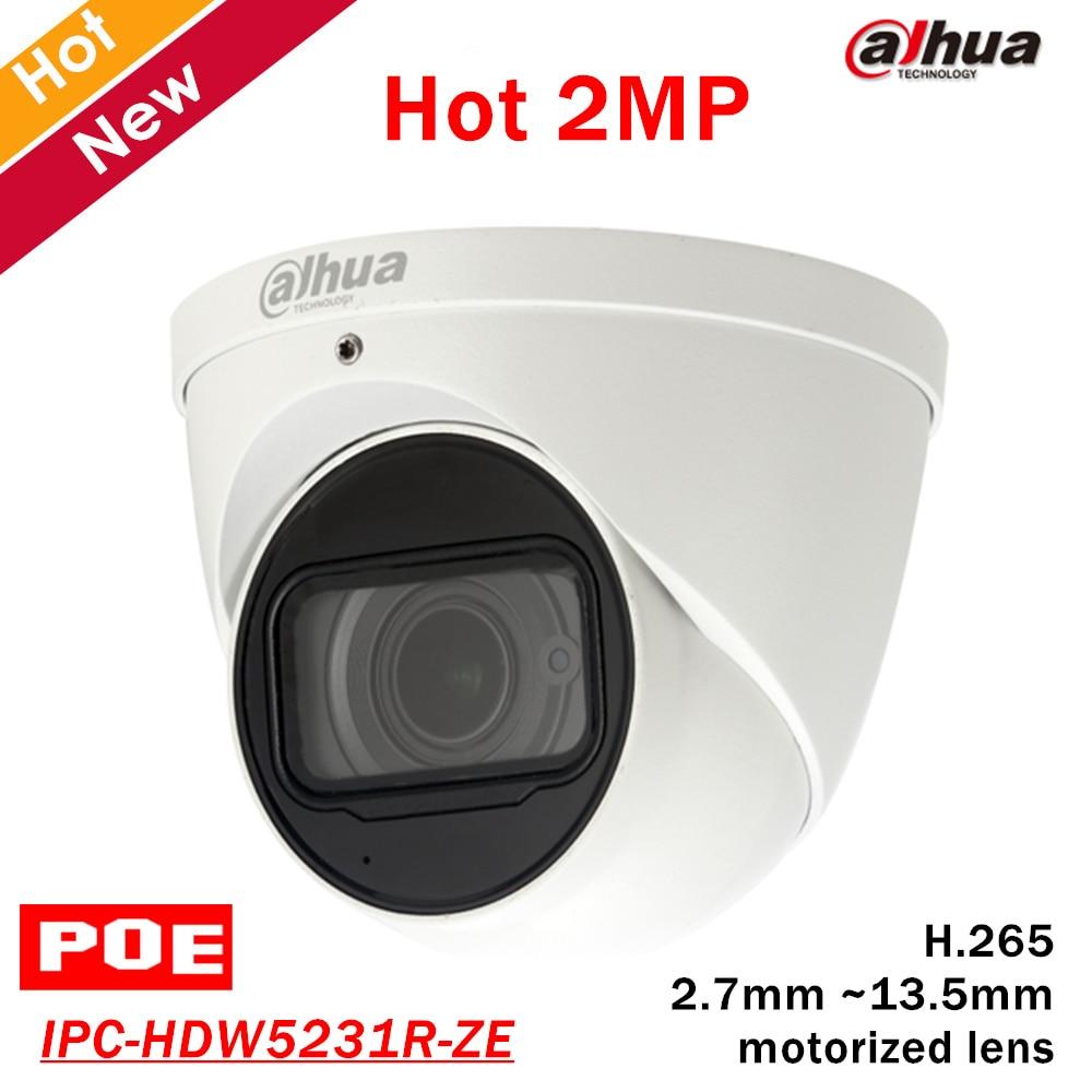 Dahua IPC-HDW5231R-ZE WDR IR Eyeball 2.7mm ~13.5mm varifocal motorized lens 2MP IR50M built-in MIC DH-IPC-HDW5231R-ZE IP Camera dahua 2 7mm 12mm motorized lens 2mp wdr ir eyeball network camera ipc hdw5231r z free dhl shipping