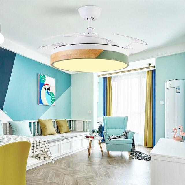 מודרני תקרת מאוורר עם אורות סלון חדר שינה מטבח חדר אוכל ventilador דה teto תקרת מאוורר עם שלט רחוק