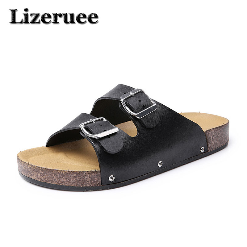 Summer Men Shoes Cork Male Slippers Casual Sandals Cork Slippers Man Beach Slippers Flats Men Shoes Big Size 40-44 HS061 fghgf shoes men s slippers kma