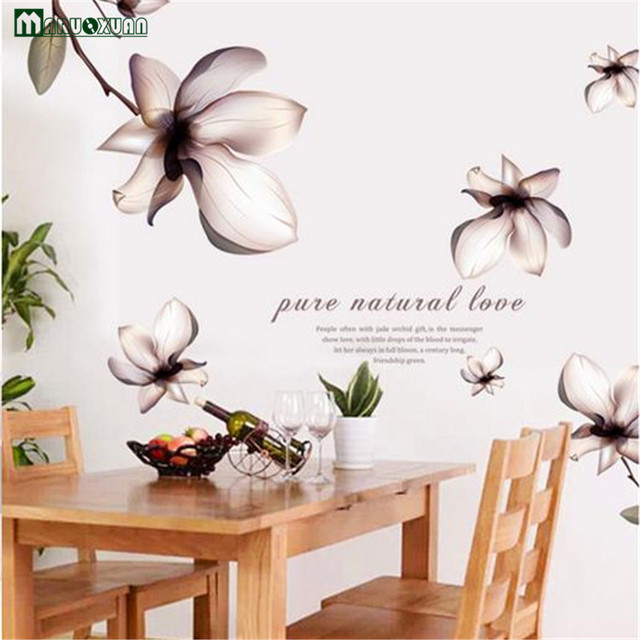 Maruoxuan 2017 New Fantasy Romantic Flower Wall Stickers Living Room Bedroom Tv/sofa Background Wedding Room Mural Home Decal