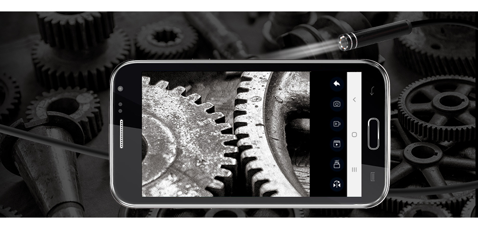 HTB1VQgtbf1H3KVjSZFBq6zSMXXaa KERUI WIFI Endoscope Camera Mini Waterproof Soft Cable Inspection Camera 8mm 1M USB Endoscope Borescope IOS Endoscope For Iphone