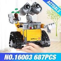 Lepin 16003 687pcs Idea Robot WALLE Model Building Kits Blocks Bricks Educational DIY Toys For Children
