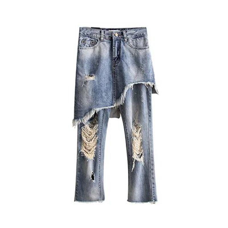 Women Fashion Clothing  Beggar's Style  Women Denim Pants Casual Street Pants Tassel Retro Jeans Loose Harem Pants