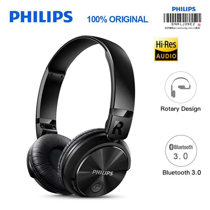 Philips Bluetooth Headphone SHB3060 Wireless headset with Micro USB Lithium Headband Battery 11 Hours Music Time for S9 S9 Plus philips bluetooth headphone shb3060 wireless headset with micro usb lithium headband battery 11 hours music time for s9 s9 plus