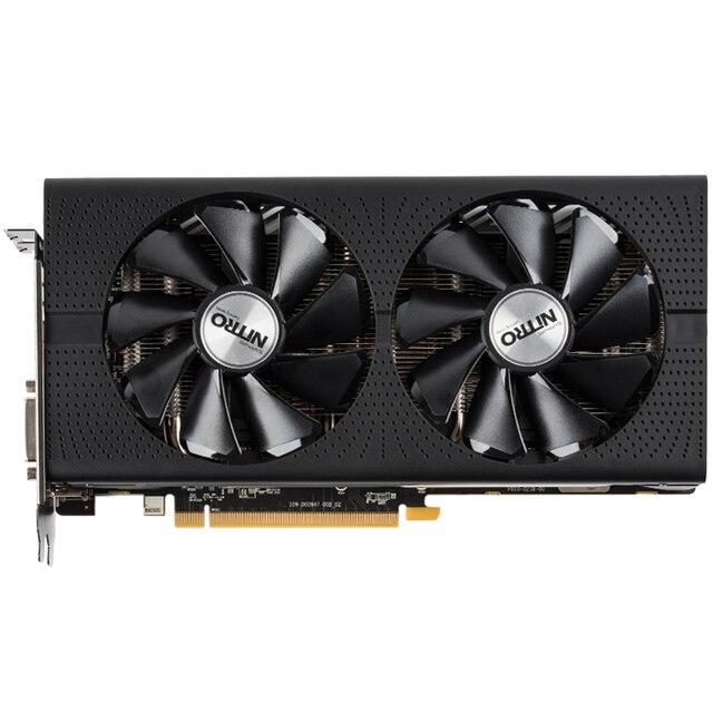 Used.Sapphire RX480 4GB GDDR5  PCI Express 3.0 computer GAMING  graphics card HDMI DP DVI