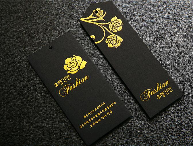Us 178 5 15 Off Free Cut Gold Foil Stamping Garment Tags Customized Brand Name And Logo Printing For Clothing 800gsm Paper Black In