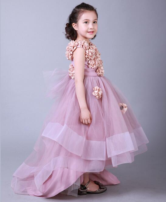 Appliques flower girls dresses for weddings baby party for Dresses for teenagers for weddings
