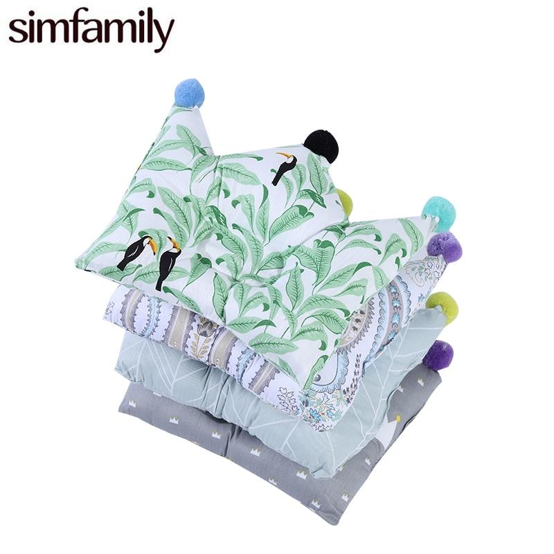 [Simfamily]Newborn Boys Girls Bedding Pillow Cushion Crown Dot Print Prevent Flat Head Concave Pillows Newborn Anti Roll Pillow