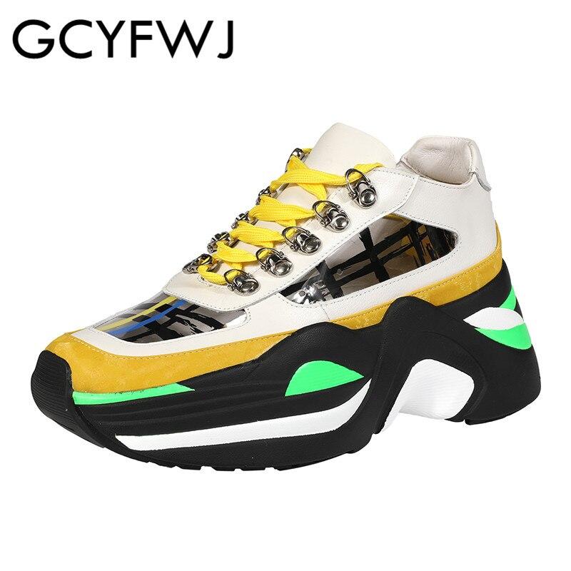 Solo Cuero Fondo Genuino De Zapatillas yellow Grueso de Encaje Zapatos Mujeres Las Graffiti Transparente Deporte Mezclados Gcyfwj Pink Mujer Colores Rayas 06wgfgIq
