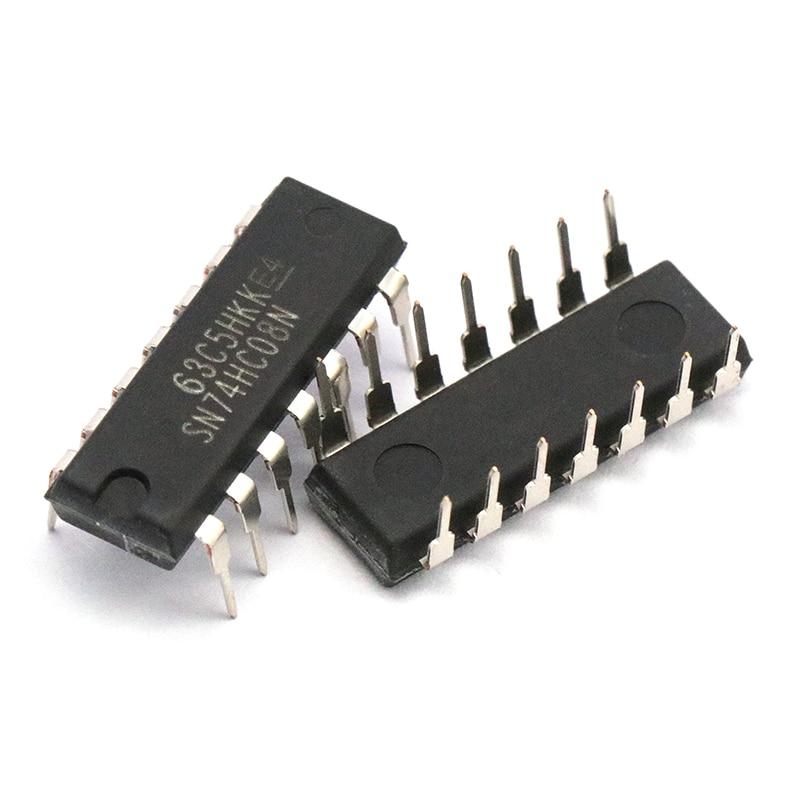 10PCS SN74HC08N DIP14 SN74HC08 DIP 74HC08N 74HC08 New And Original IC Quad 2-Input Positive-AND Gate Logic Chip