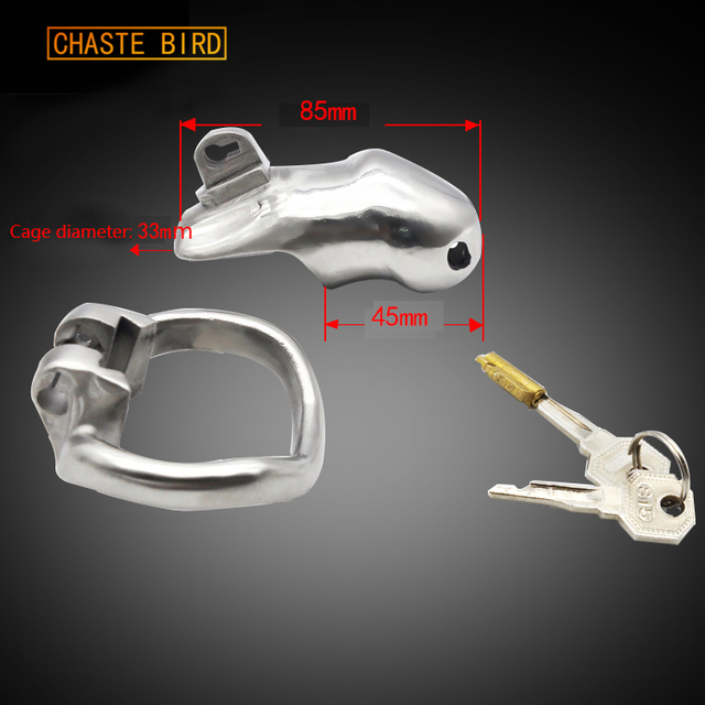 Chaste Bird Male 316L stainless steel  Luxury Honorable Small Size Cage Male Chastity Magic Locker Device Sex Toy A256